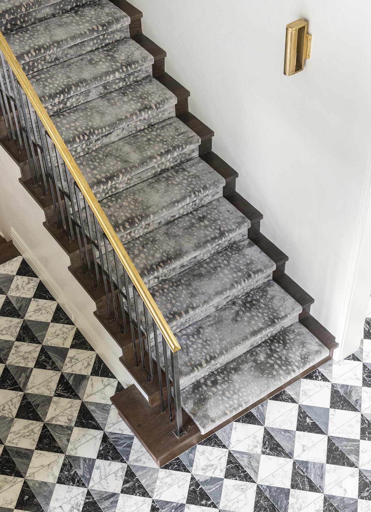 custom home interior design of stairs