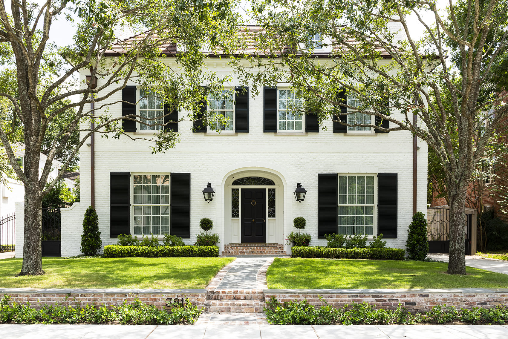 home exterior of timeless interior design project