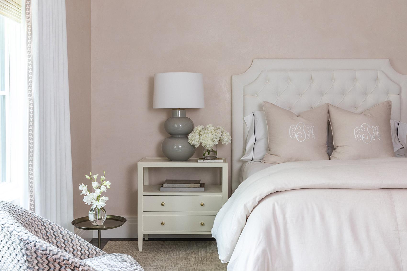 custom pink bedroom