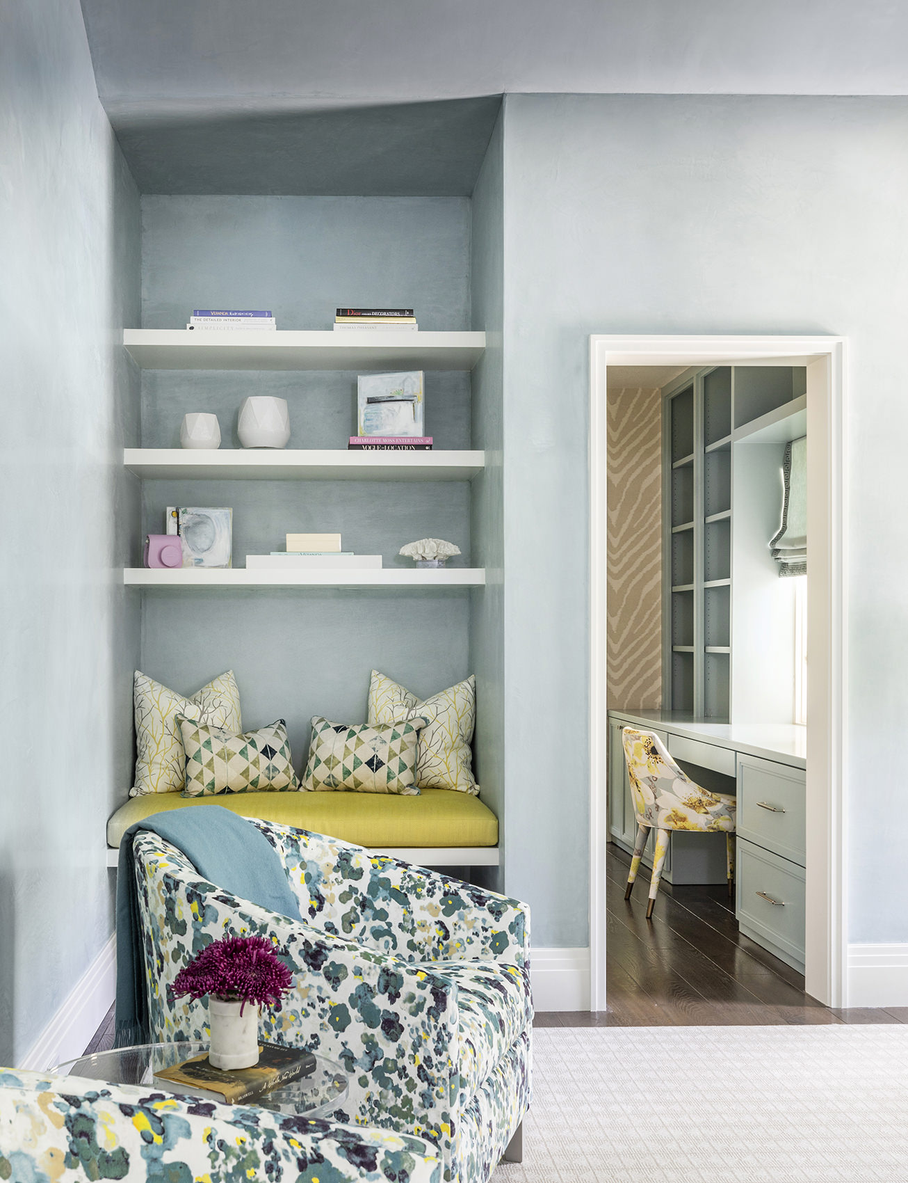 custom kids bedroom with view of nook