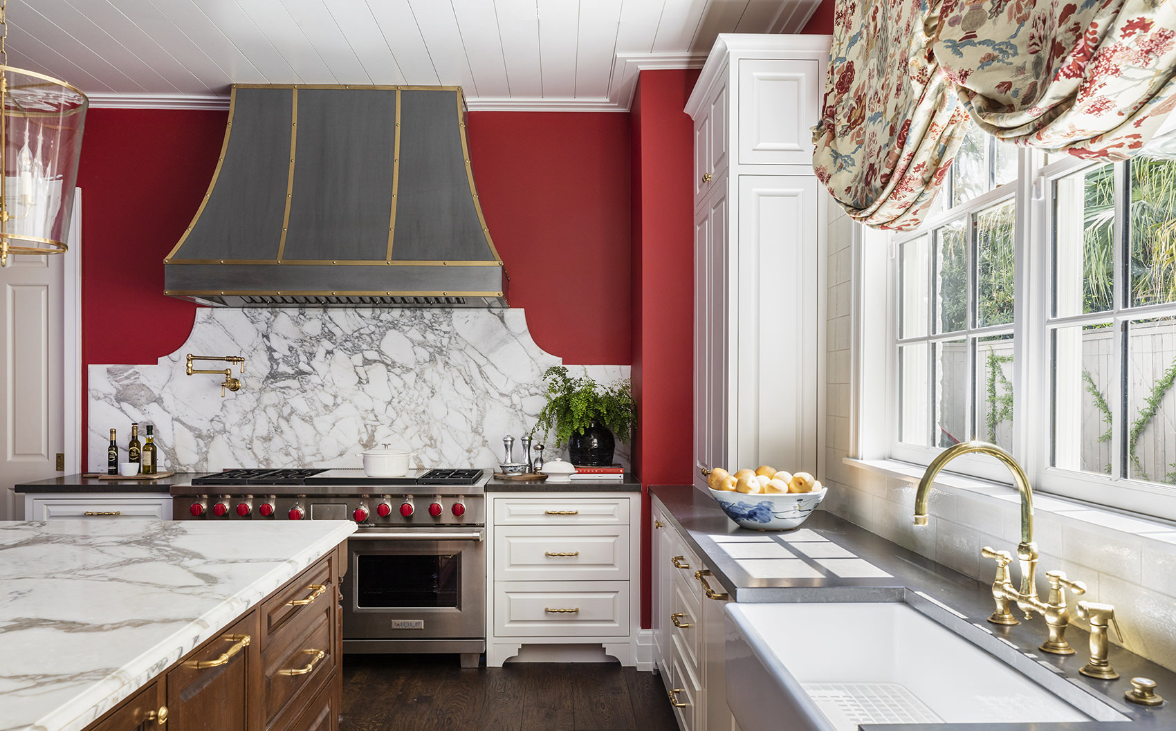 timeless kitchen design with marble counters