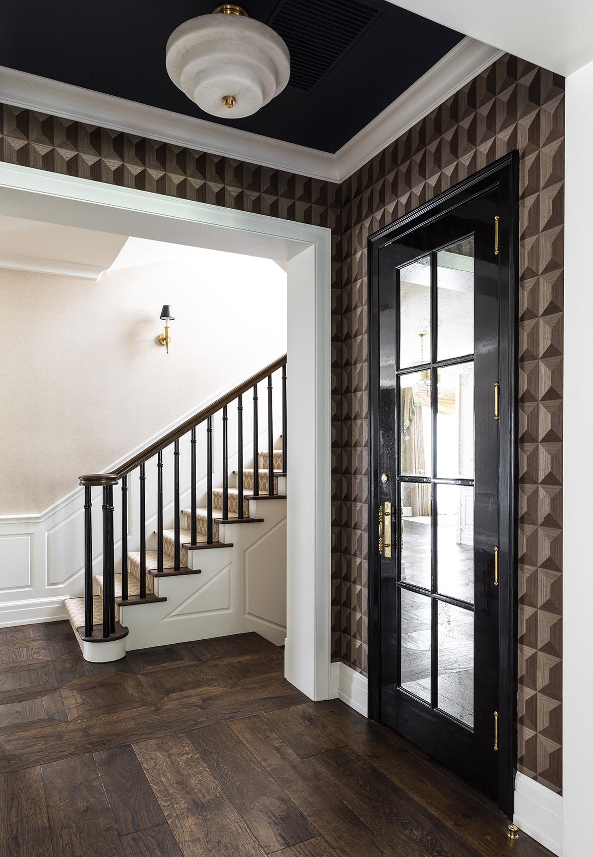 timeless stairwell of elegant home