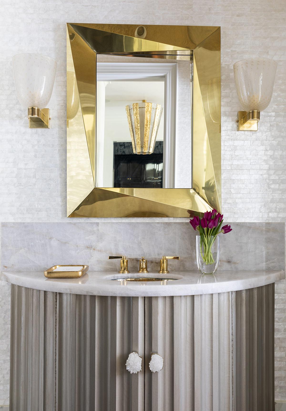 elegant golden accent bathroom