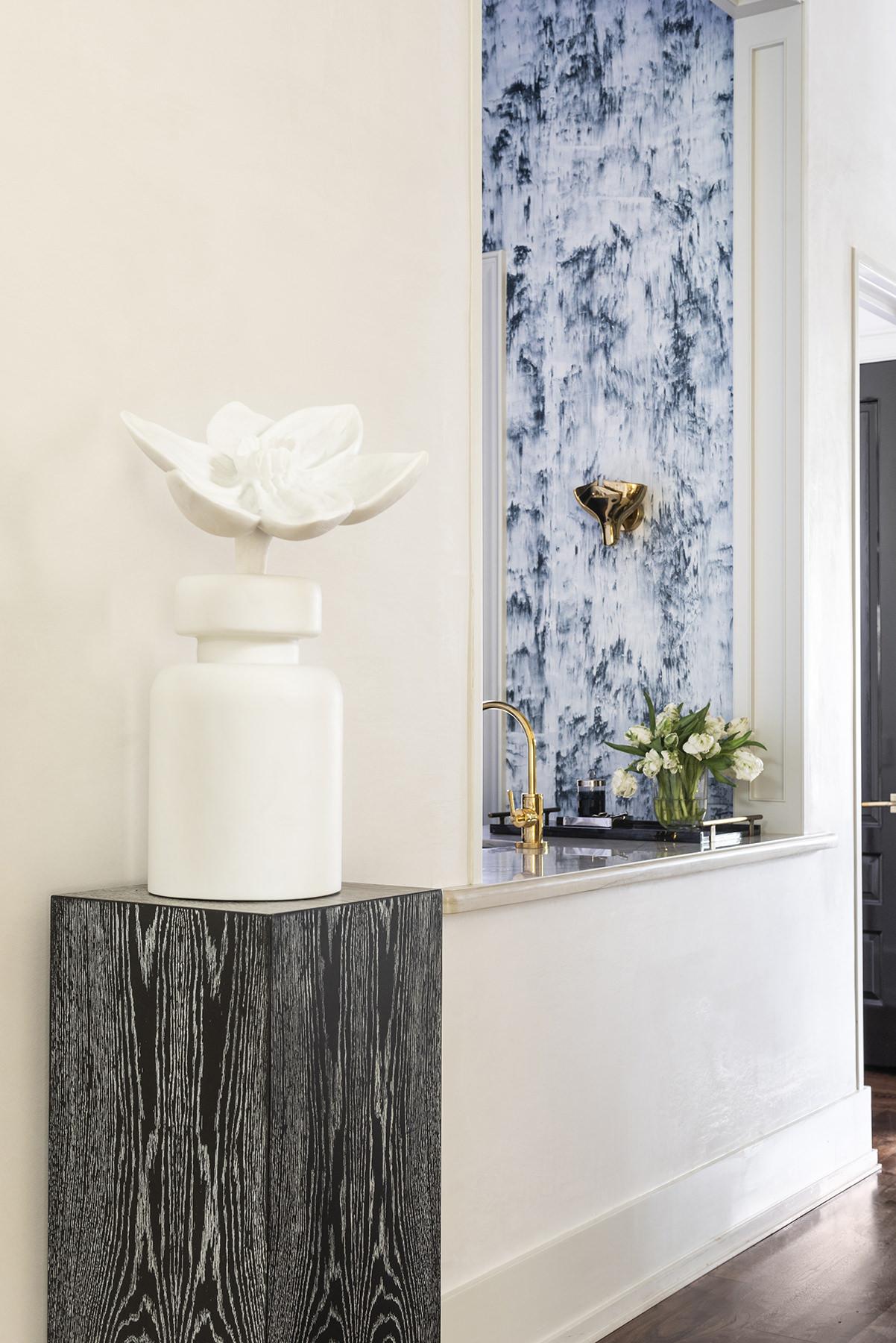 elegant art pieces in hall