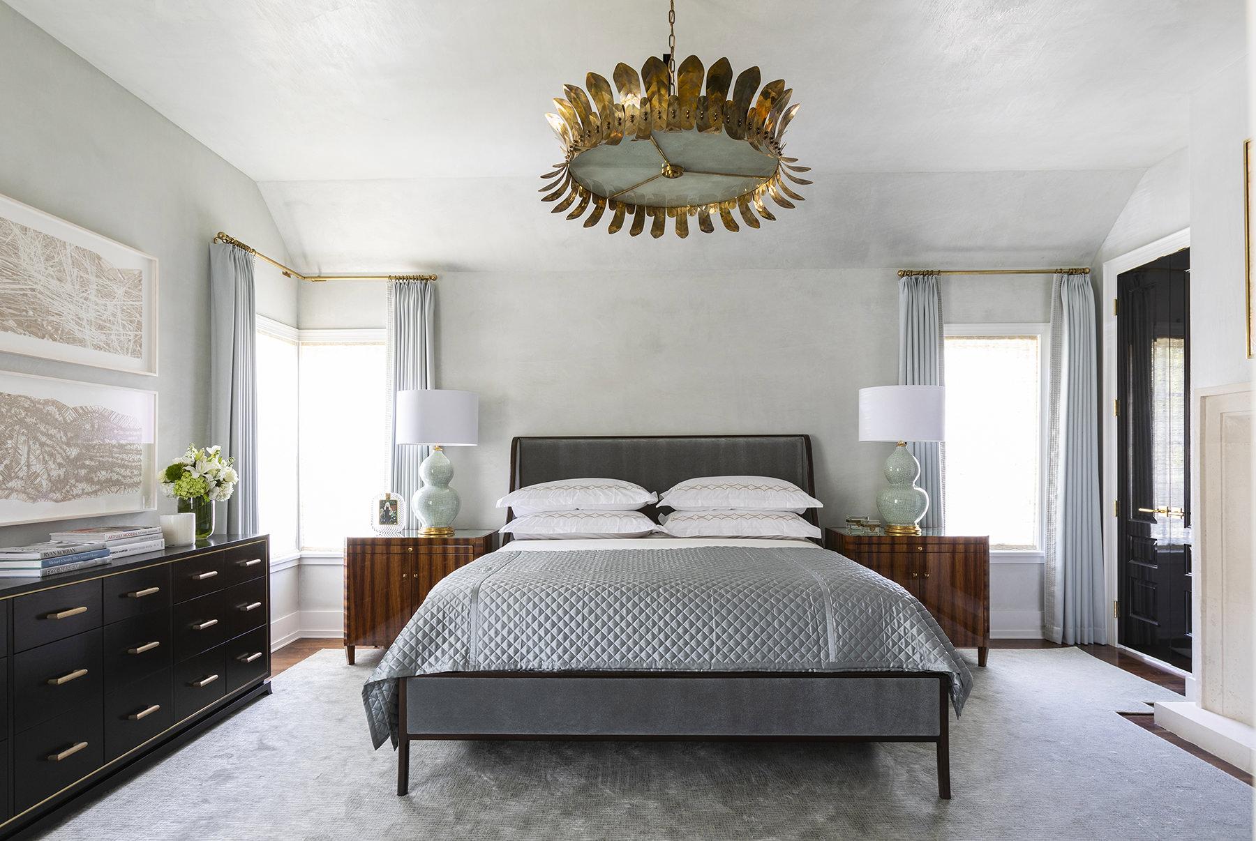 elegant gray master bedroom